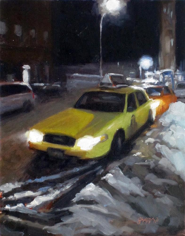 """""""New York snow"""" original fine art by Dan Graziano"""