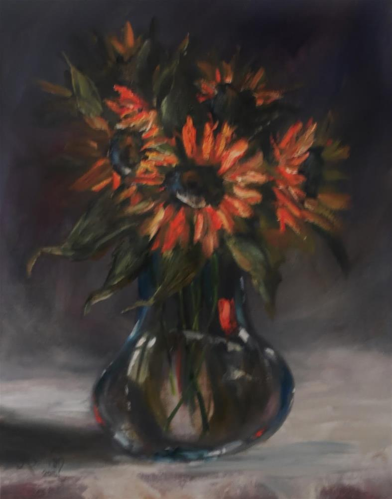 """Indian Summer floral still life painting by Alabama Artist Angela Sullivan"" original fine art by Angela Sullivan"