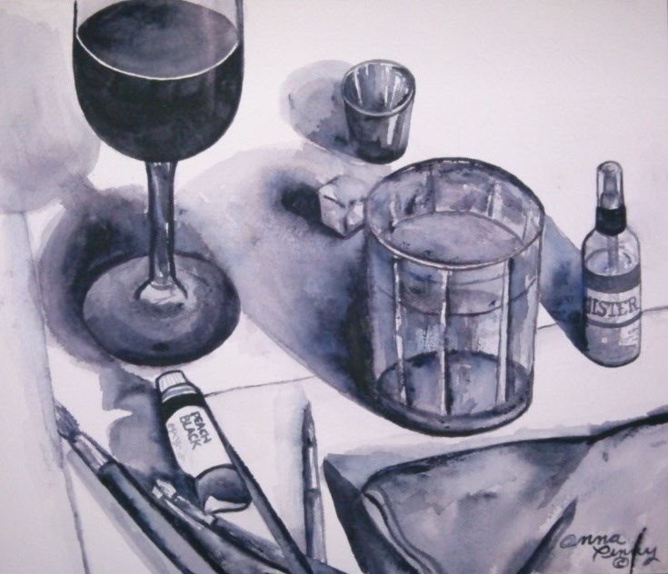 """""""Ready to Paint"""" original fine art by Anna Penny"""