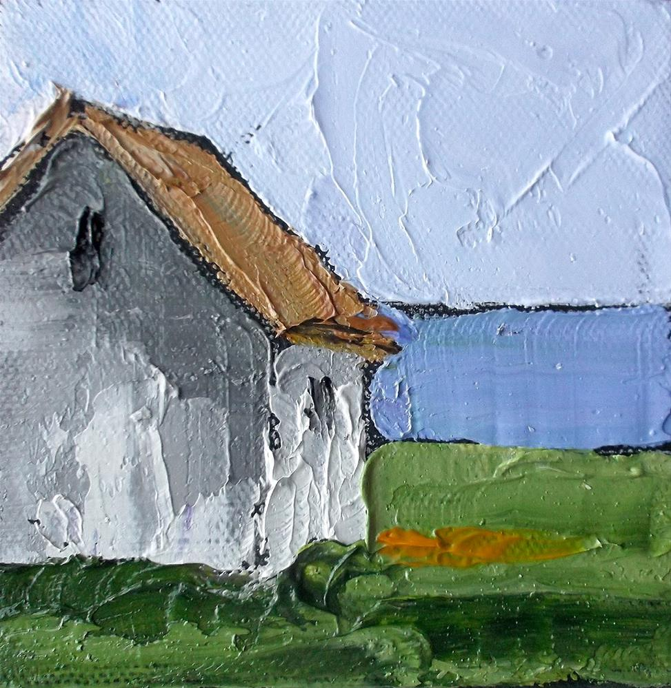 """North Coast Farm House Miniature"" original fine art by lynne french"