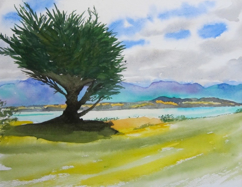 """Lake Ferry, Southern Wairarapa, NZ"" original fine art by Tim Barraud"