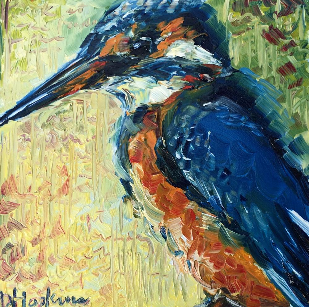 """Kingfisher"" original fine art by Denise Hopkins"