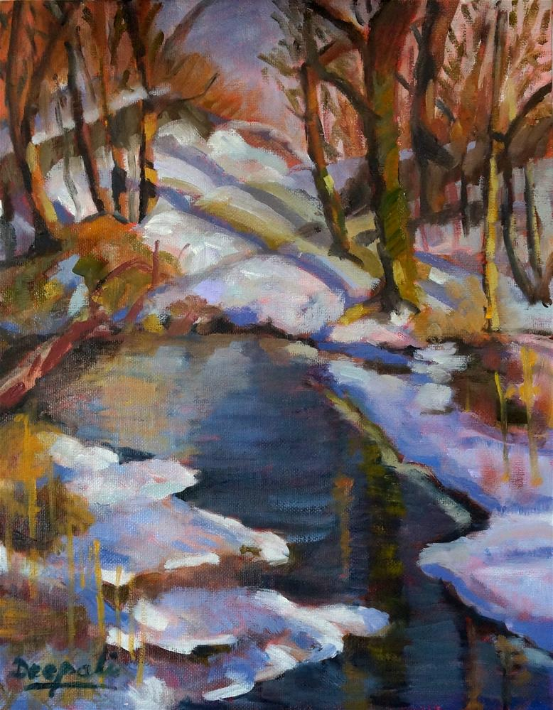 """Snowfall"" original fine art by Dipali Rabadiya"