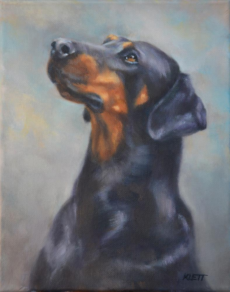 """The Doberman"" original fine art by Tracy Klett"