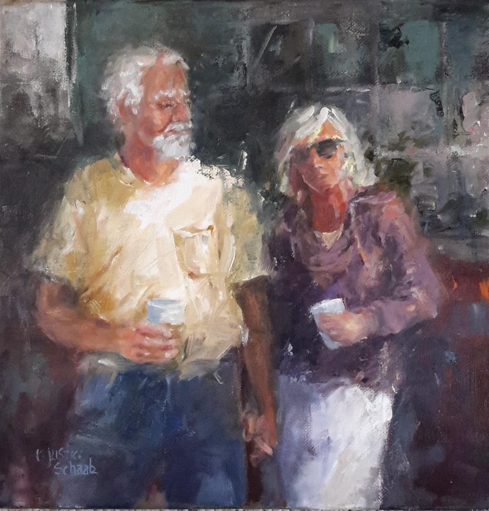 """""""Date Nite"""" original fine art by Rebecca Justice-Schaab"""