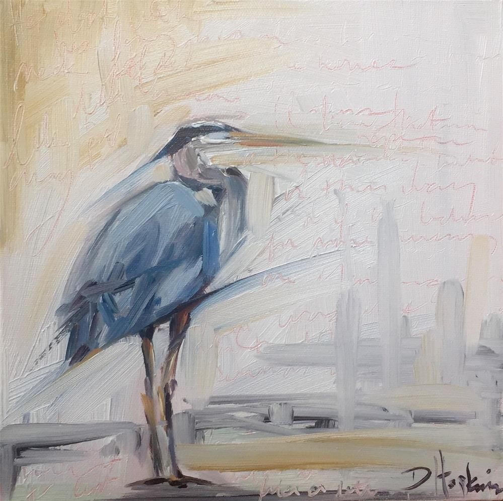 """Solitary Habit"" original fine art by Denise Hopkins"
