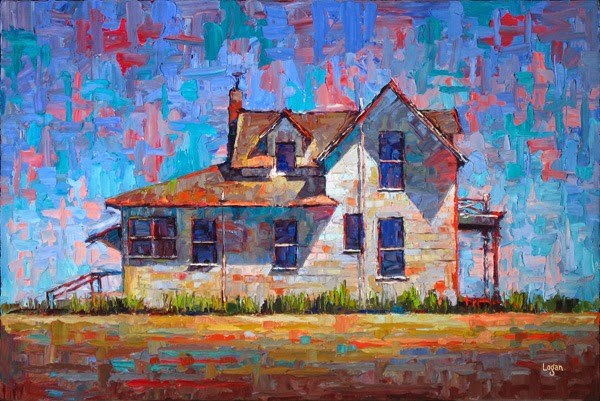 """Enos Farm House - The Side (Larger)"" original fine art by Raymond Logan"