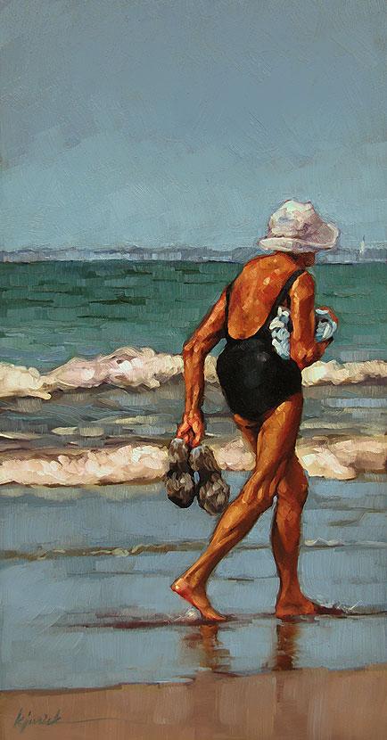"""Truckin'"" original fine art by Karin Jurick"
