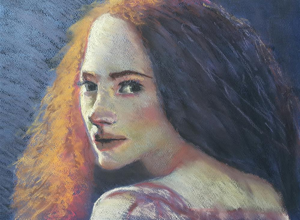 """Girl on fire"" original fine art by Rentia Coetzee"