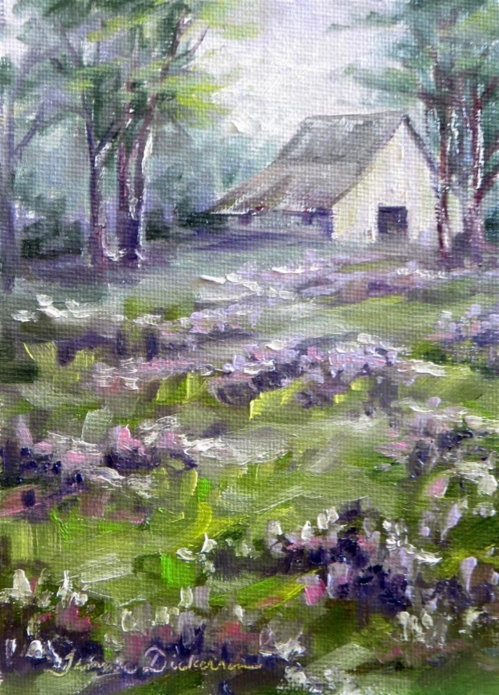 """Fields of Violet"" original fine art by Tammie Dickerson"