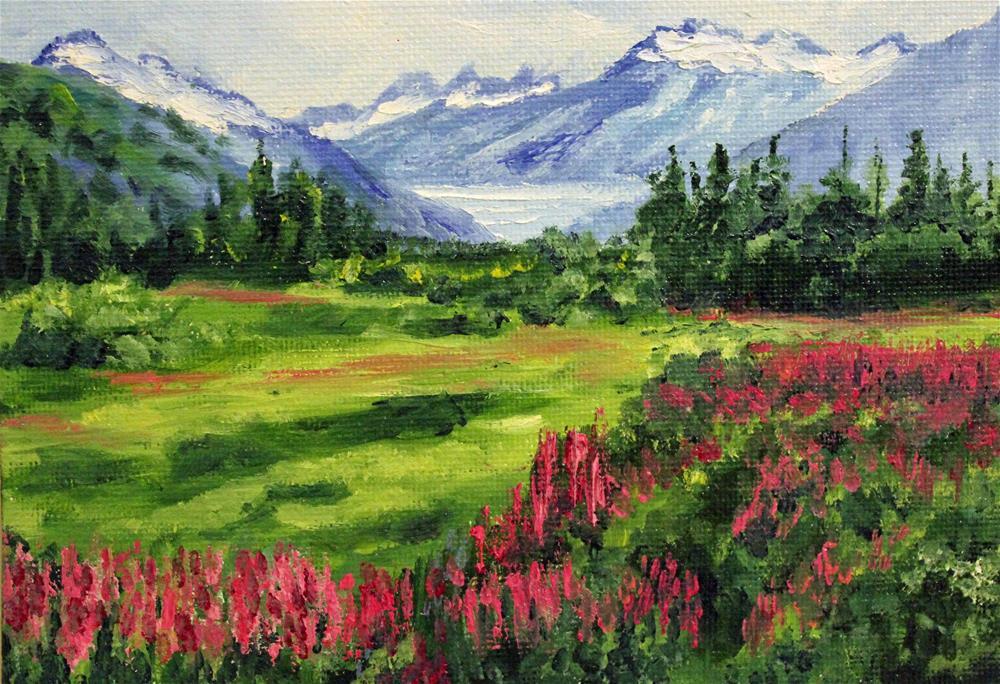 """Spring in the Valley"" original fine art by Barbara Janecka"