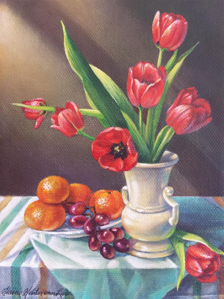 """Fresh Picked"" original fine art by Elaine Guitar van Loo"