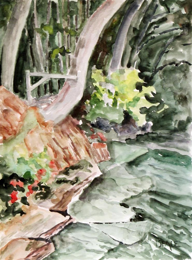 """Skaneateles Lake shoreline"" original fine art by  David Beale"