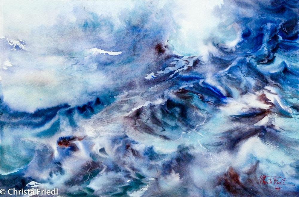 """Wave Motion"" original fine art by Christa Friedl"