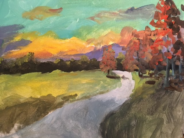 """Autumn Afternoon"" original fine art by Susan Elizabeth Jones"