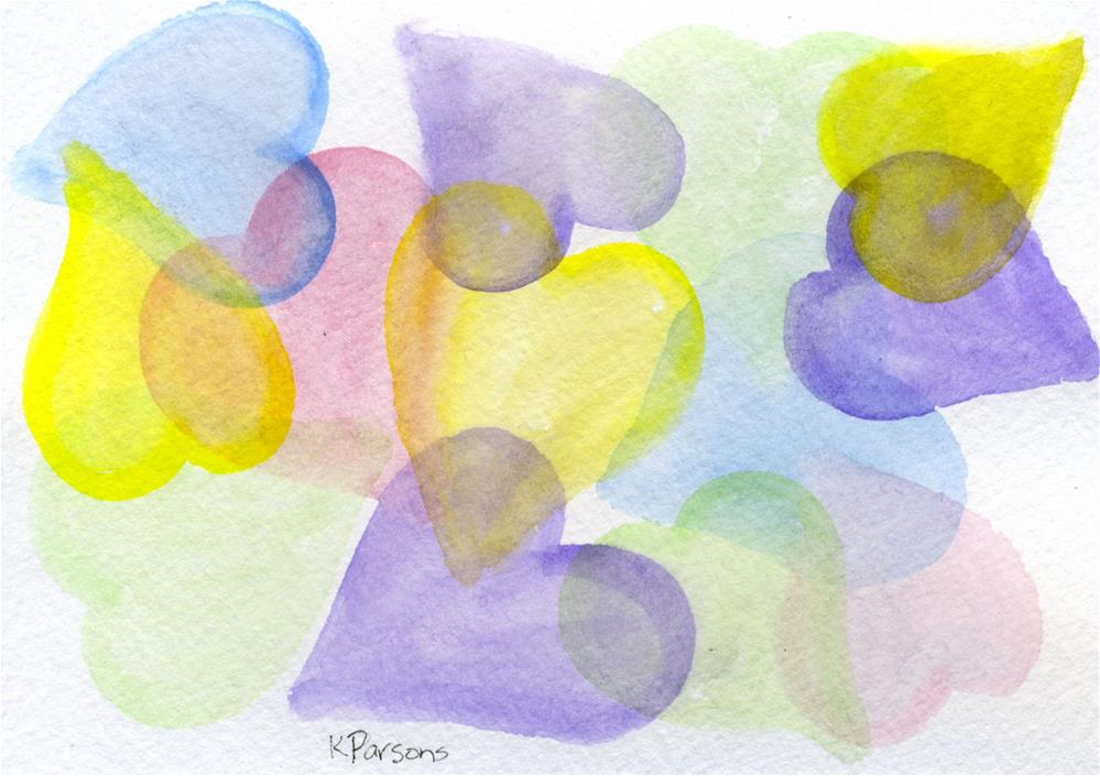"""Pastel Hearts"" original fine art by Kali Parsons"