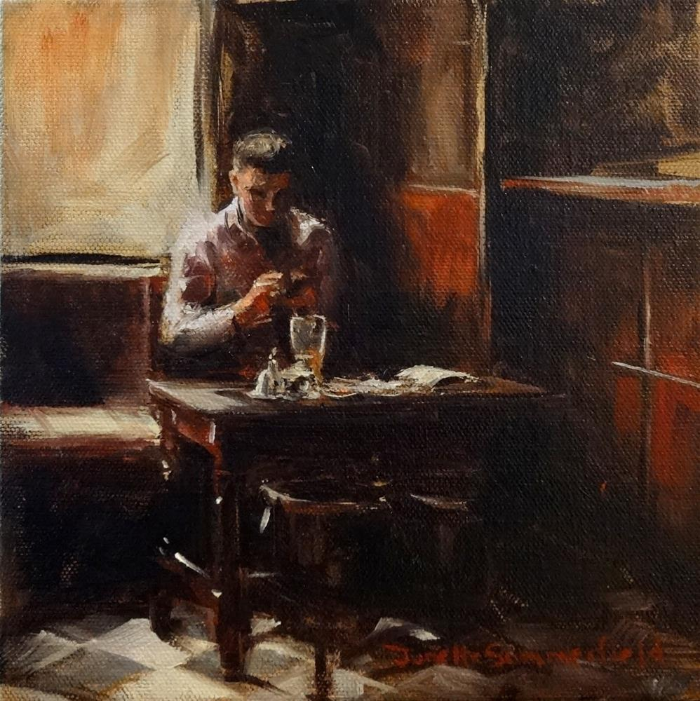 """Lunch at the Pub II"" original fine art by Jonelle Summerfield"