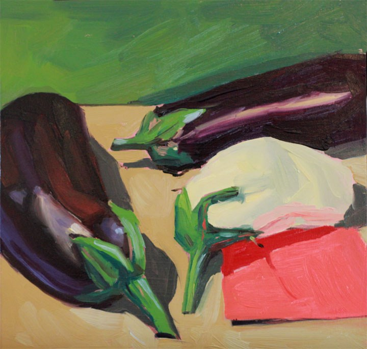 """The Illusive White Eggplant"" original fine art by Nealy May Riley"