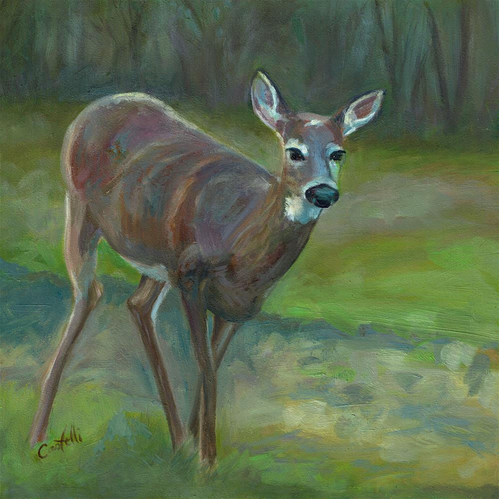 """Encounter"" original fine art by Anna Castelli"