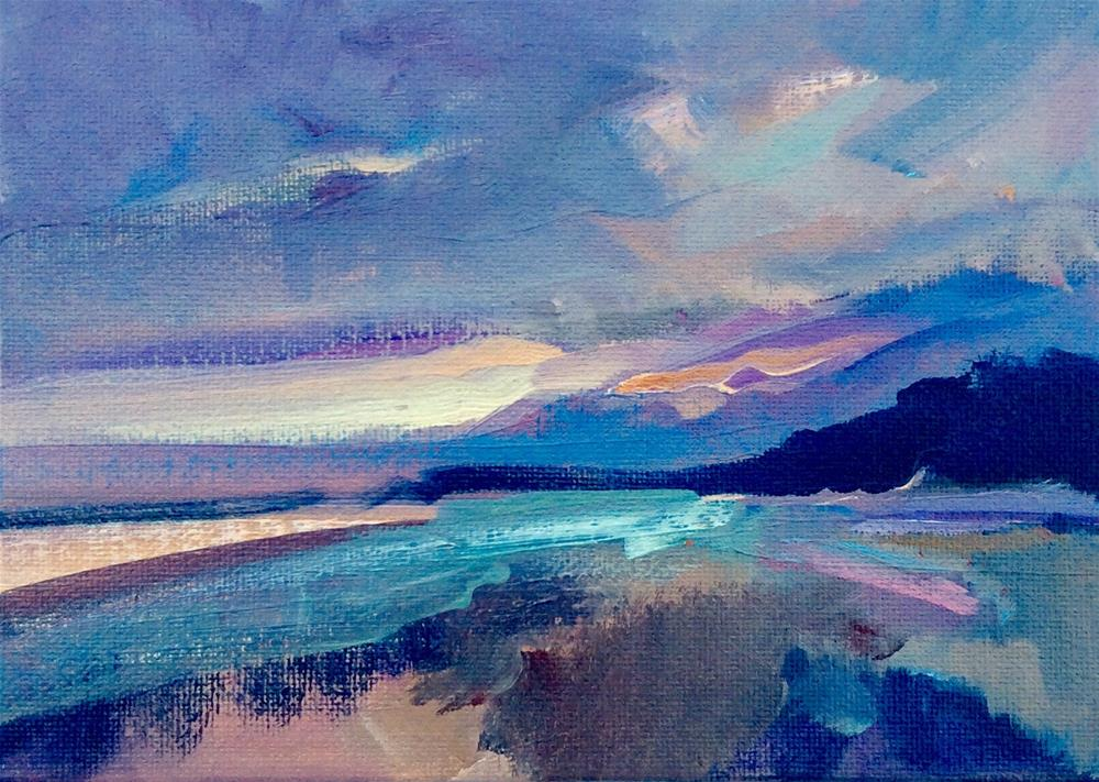 """Sunrise in Summer"" original fine art by Anne Wood"