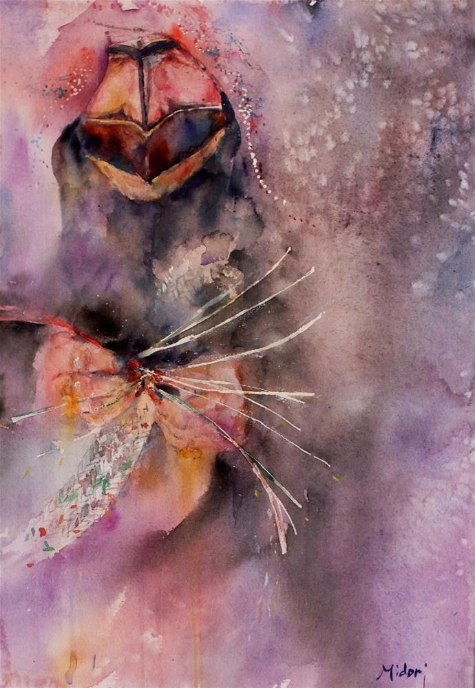 """""""Al Qattara Souq,Al Ain"""" original fine art by Midori Yoshino"""