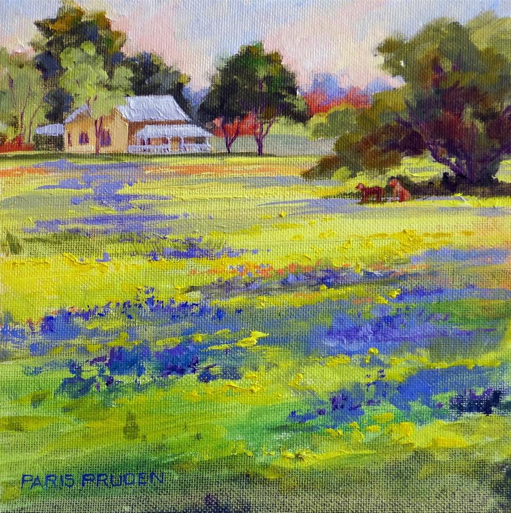 """Old Texas Farmhouse"" original fine art by Nancy Paris Pruden"