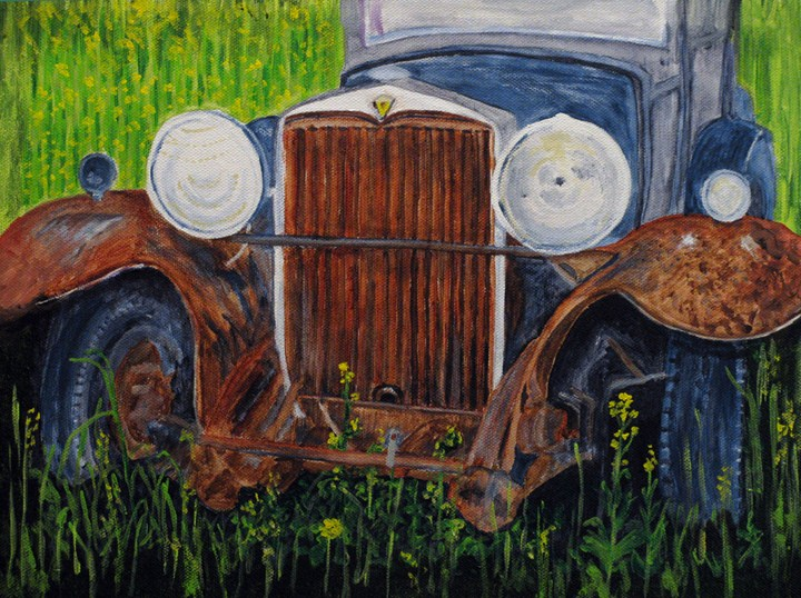 """Left To Rust"" original fine art by Nan Johnson"