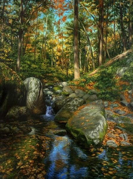 """""""Water Gap Glen"""" original fine art by Danny O'Leary"""