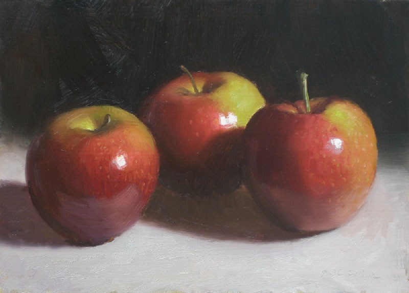 """Three Apples"" original fine art by Debra Becks Cooper"