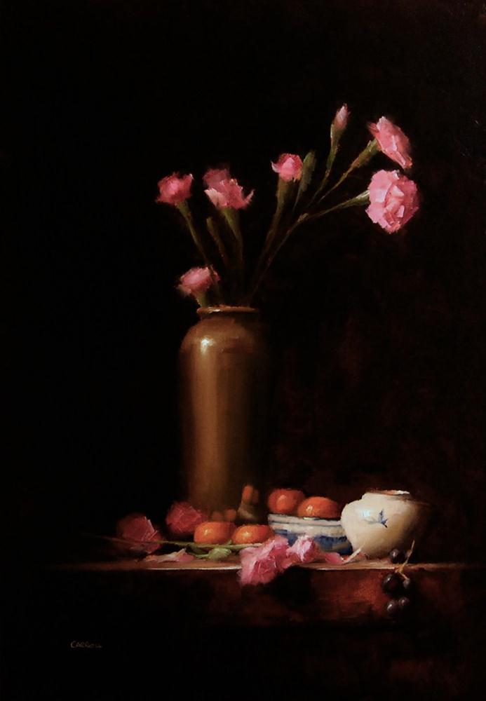 """""""Arrangement with Flowers"""" original fine art by Neil Carroll"""
