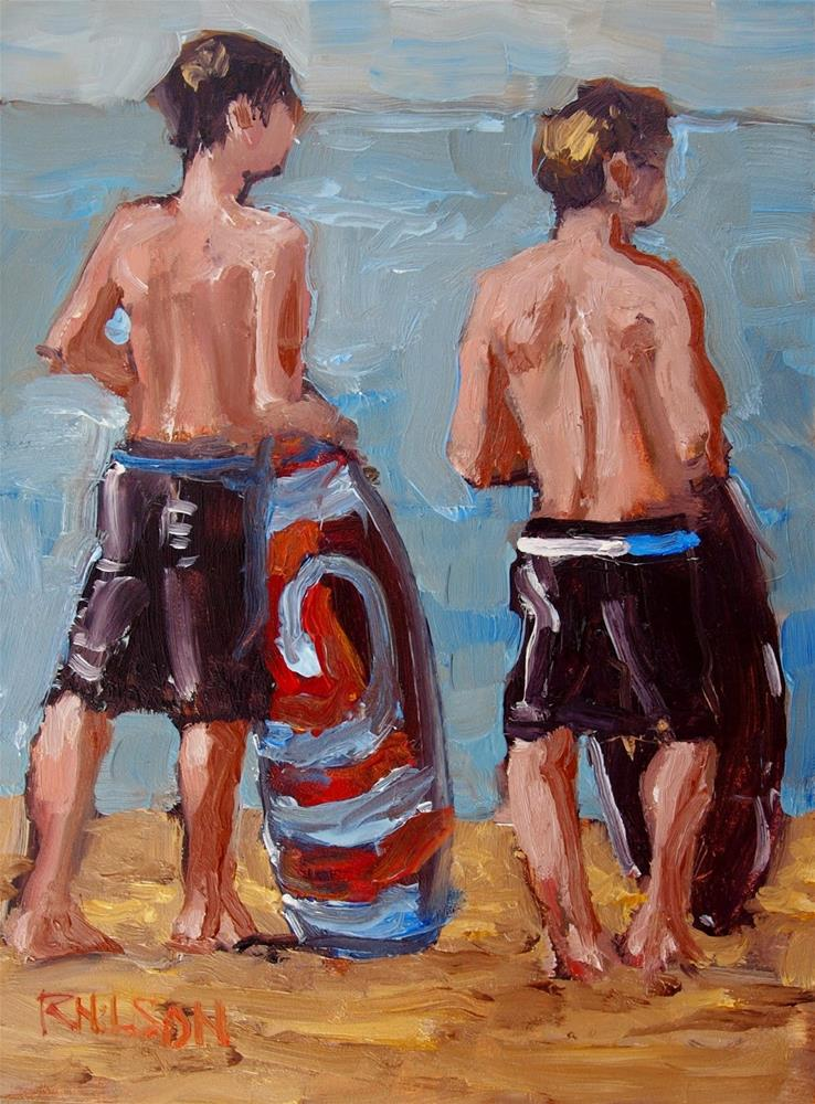 """Boarders"" original fine art by Rick Nilson"