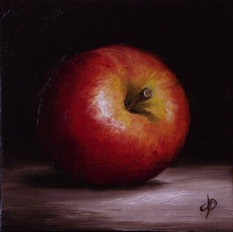 """Little Braeburn Apple"" original fine art by Jane Palmer"
