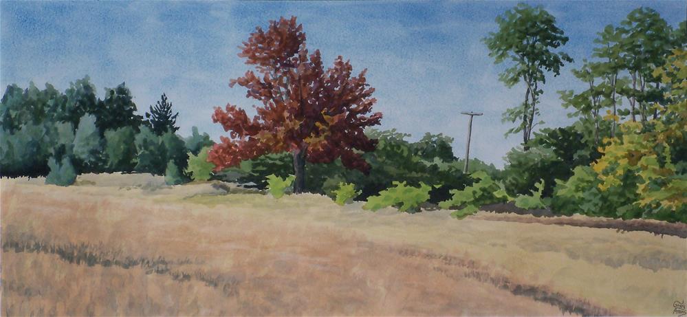 """Thorason Rd. Field"" original fine art by Greg Arens"