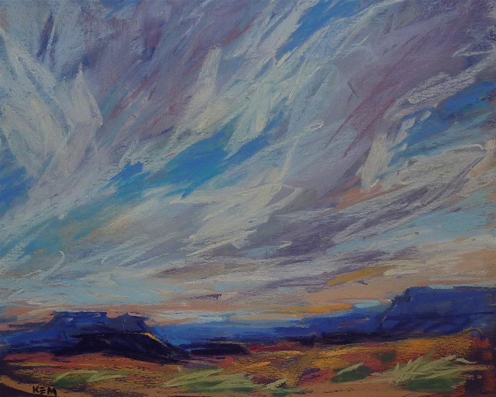 """Inspiring Skies...An Idea for Painting More Interesting Skies"" original fine art by Karen Margulis"