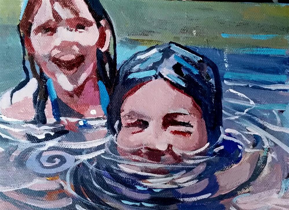 """At the lake"" original fine art by Liz Maynes"