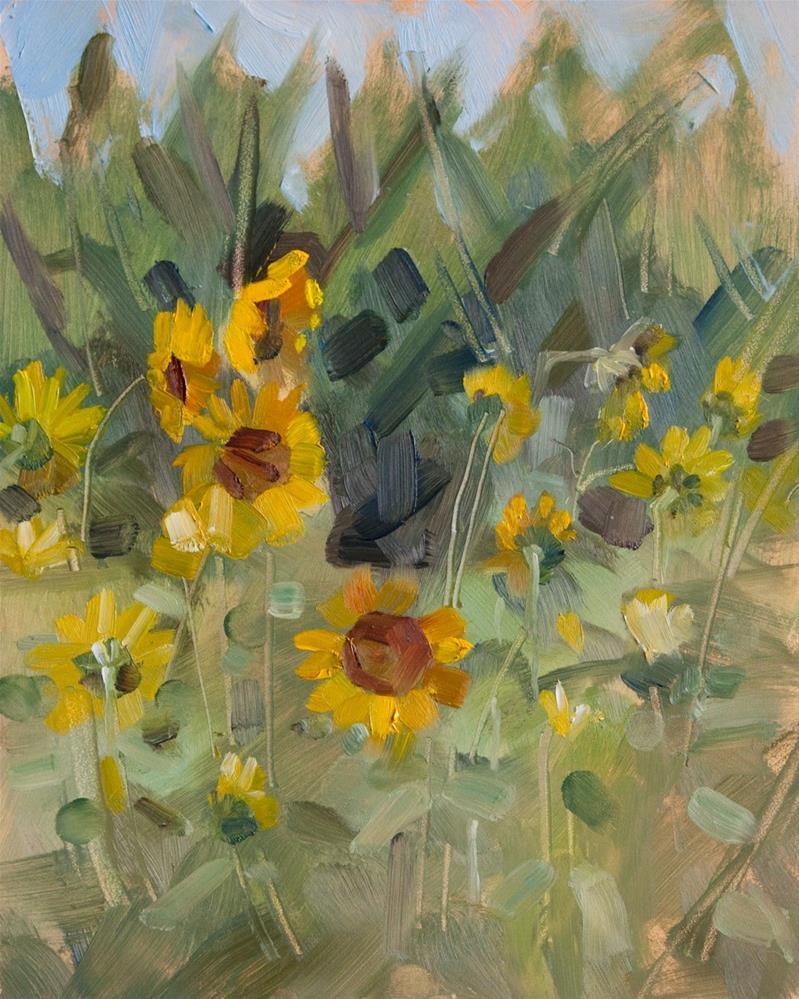 """Sunday Sunflowers and Corn"" original fine art by Beth Bathe"