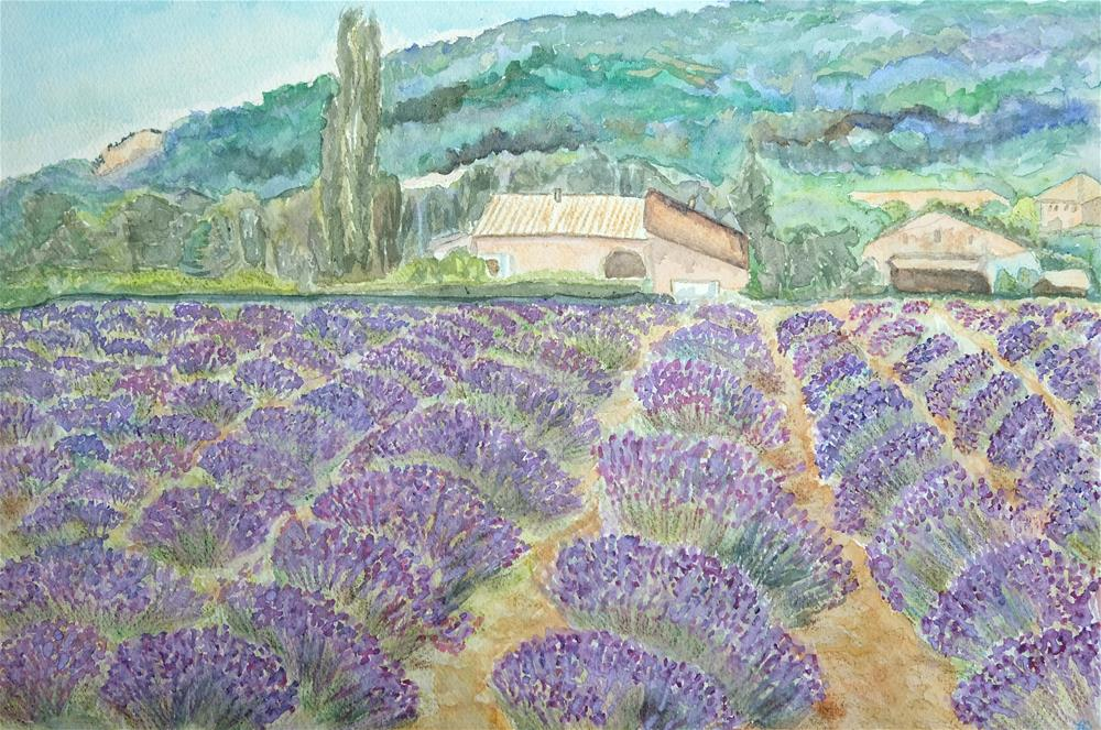 """Lavender Field"" original fine art by Laura Denning"