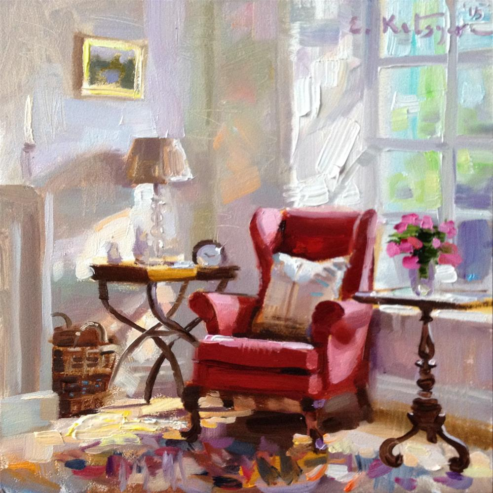 """By The Window"" original fine art by Elena Katsyura"