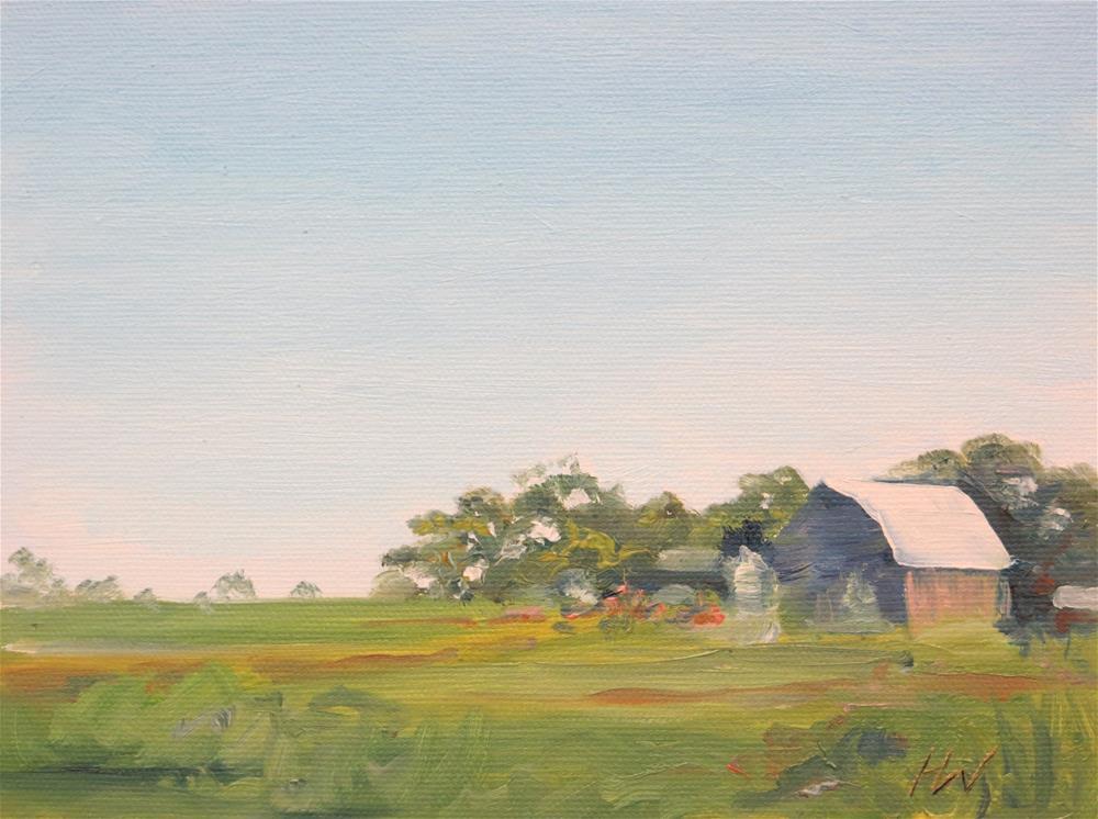 """Iowa Farm Country"" original fine art by H.F. Wallen"