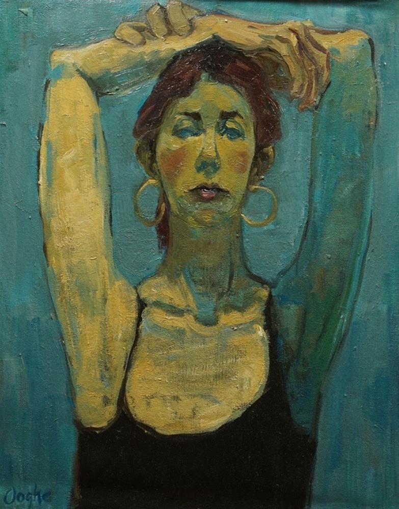 """Portrait in Blue"" original fine art by Angela Ooghe"