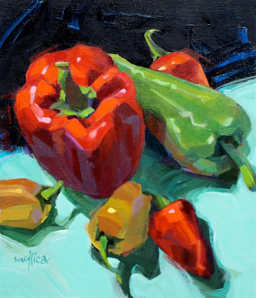 """Pepper Party"" original fine art by Patti Mollica"