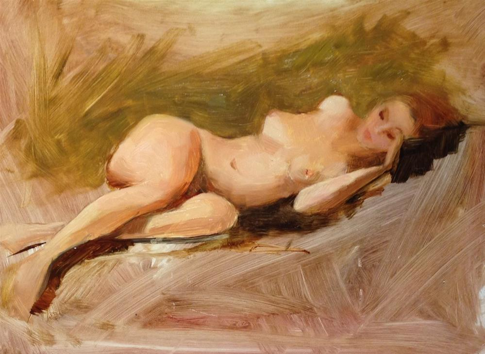 """Saturday Figure Study October"" original fine art by Dorothy Woolbright"