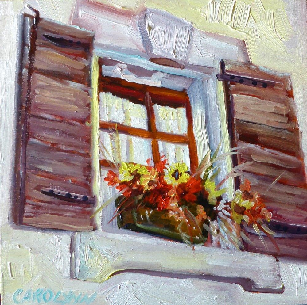 """Window of Nice, France"" original fine art by Carolynn Doan"