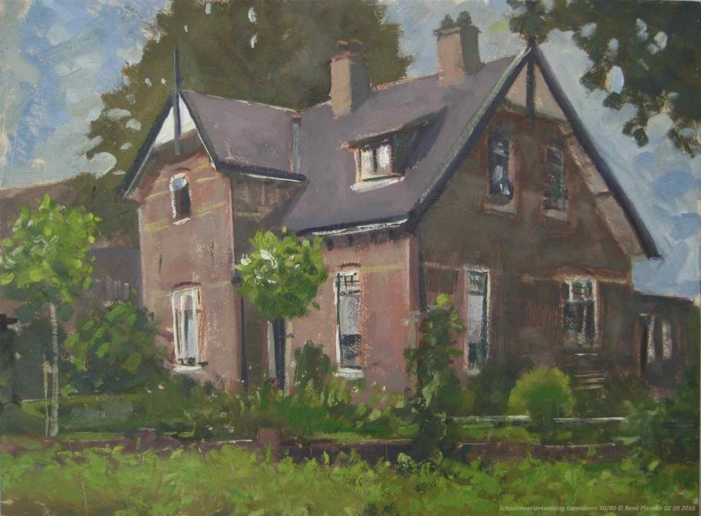"""Schoolmeesterswoning Gaanderen, The Netherlands."" original fine art by René PleinAir"
