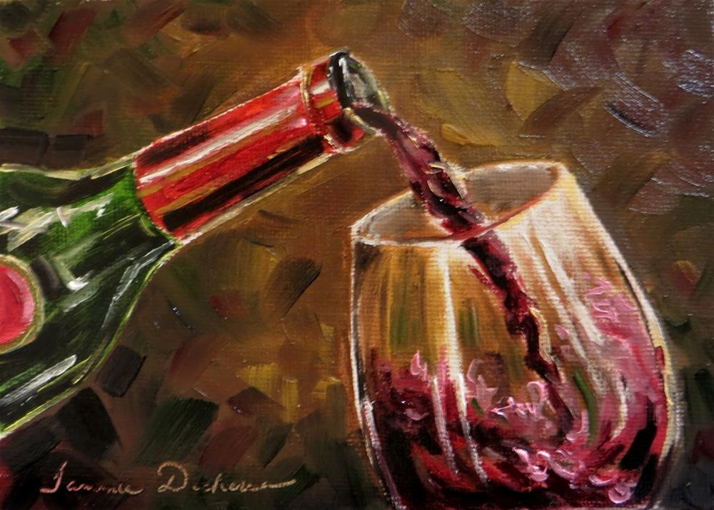 """Merlot, Please"" original fine art by Tammie Dickerson"