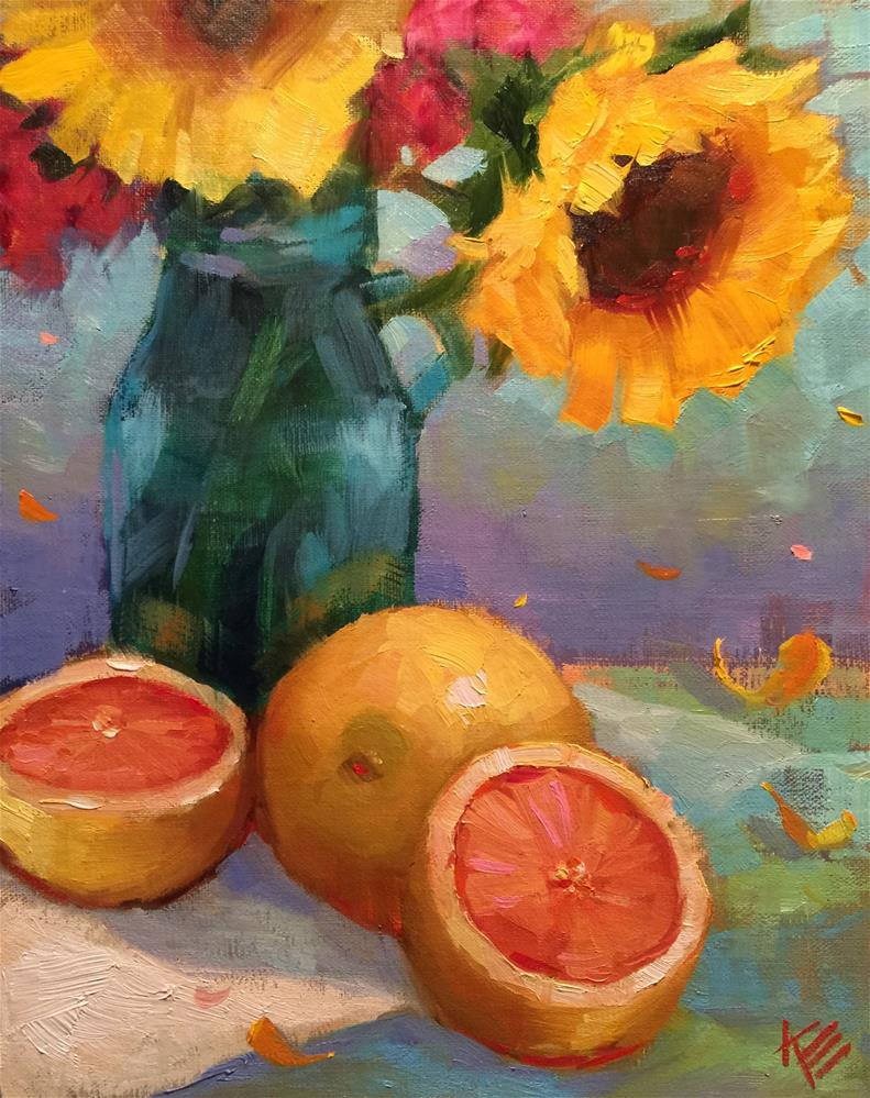 """Sunshine"" original fine art by Krista Eaton"