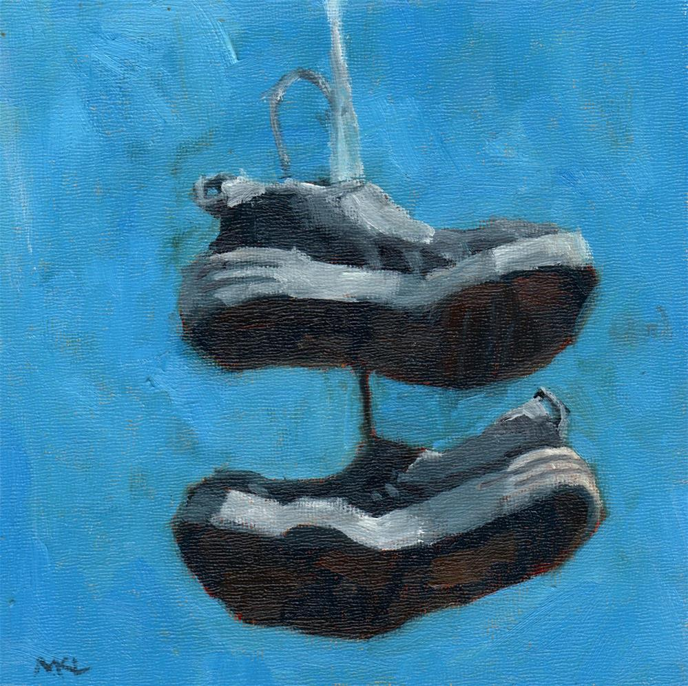 """Play Shoes"" original fine art by Marlene Lee"