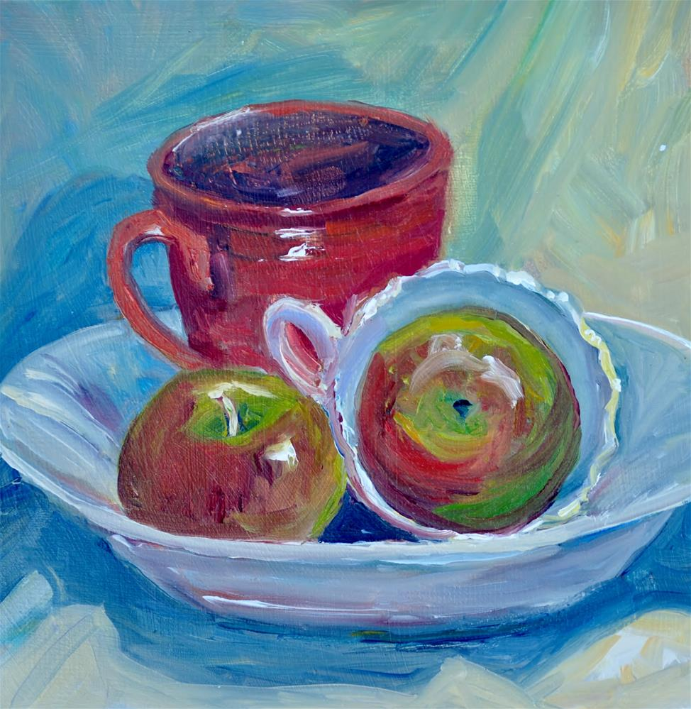 """Apples still life 1"" original fine art by Catherine Crookston"