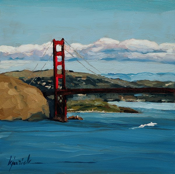 """Lincoln Highway, Lincoln Park, San Francisco"" original fine art by Karin Jurick"