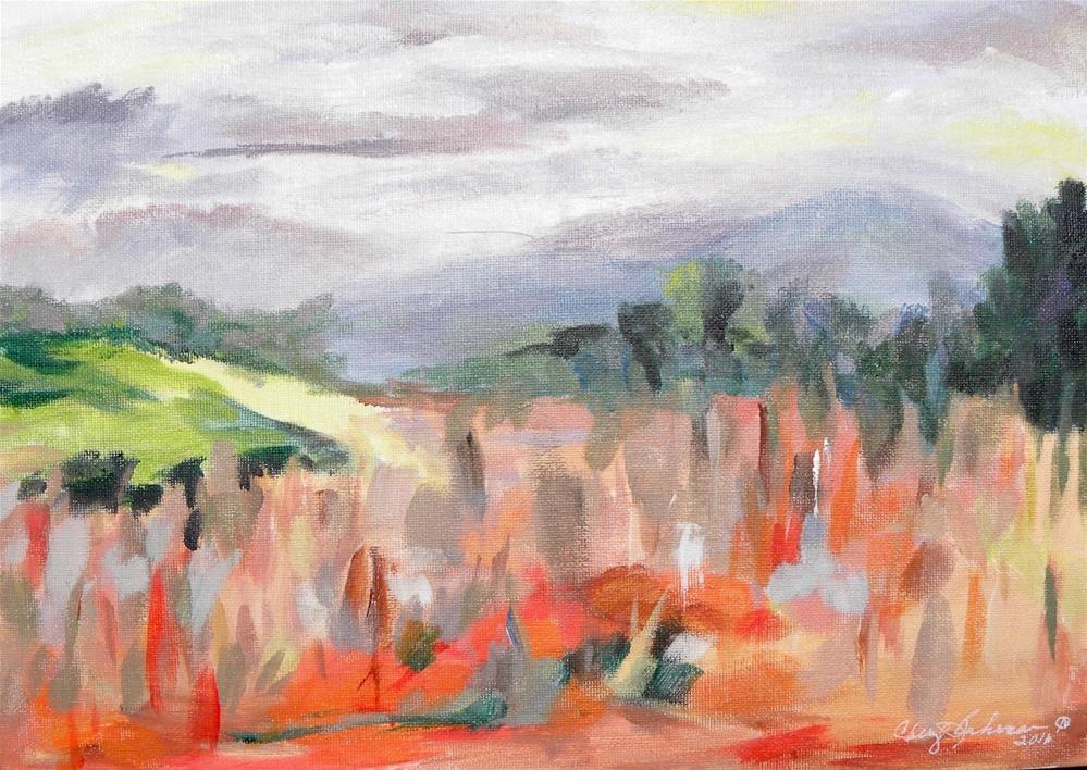 """Country Fall"" original fine art by cheryl buhrman"